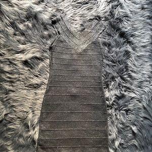 PRE LOVED silver glitter bandage dress